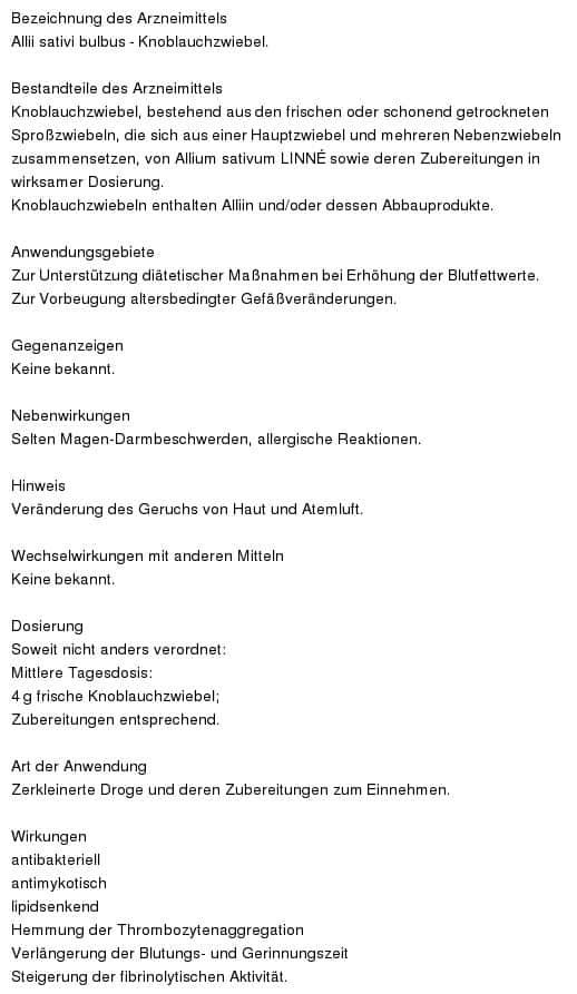 Knoblauch monographie